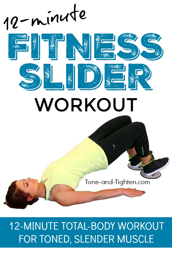 12-Minute Total-Body Workout you can do at home with Fitness Sliders / Gliders | Tone-and-Tighten.com