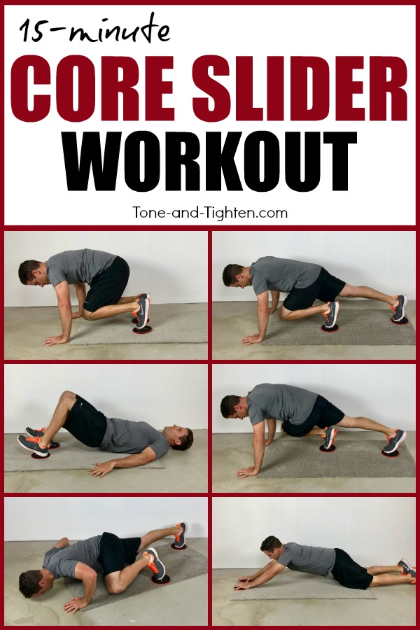 15-minute core slider workout you can do at home. The best slider exercises to tone and tighten your stomach!