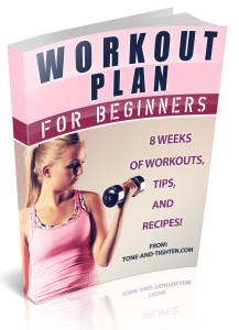 8 Week Beginner's Workout Plan ebook cover