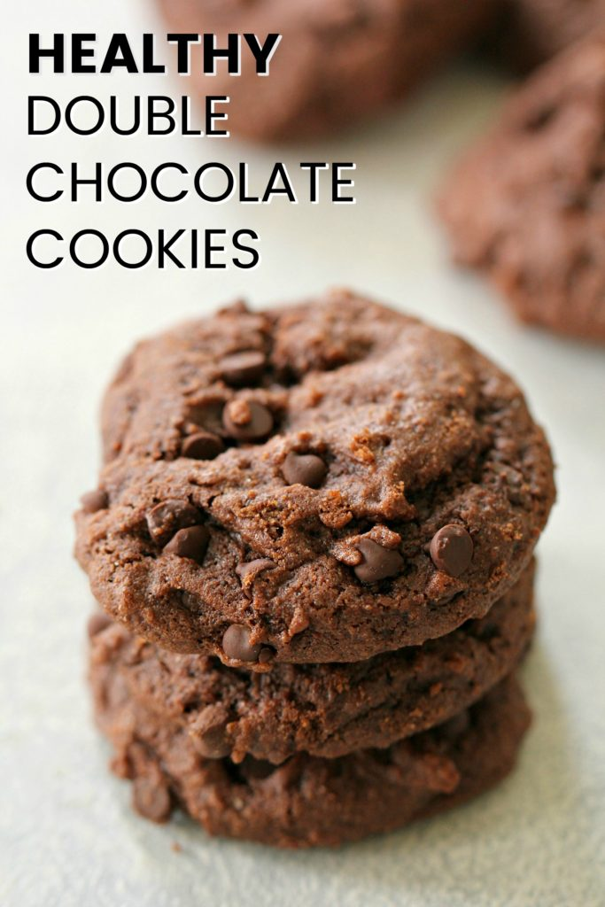 Healthy Double Chocolate Cookies [made with Kodiak Cakes]