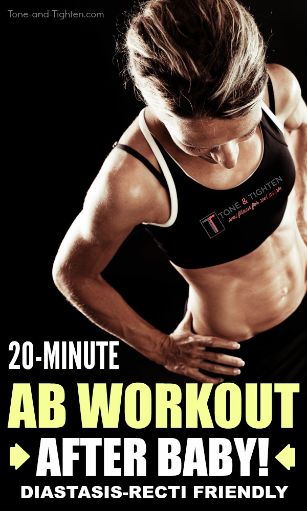 20-Minute postnatal ab workout. The best exercises for your abs after pregnancy.