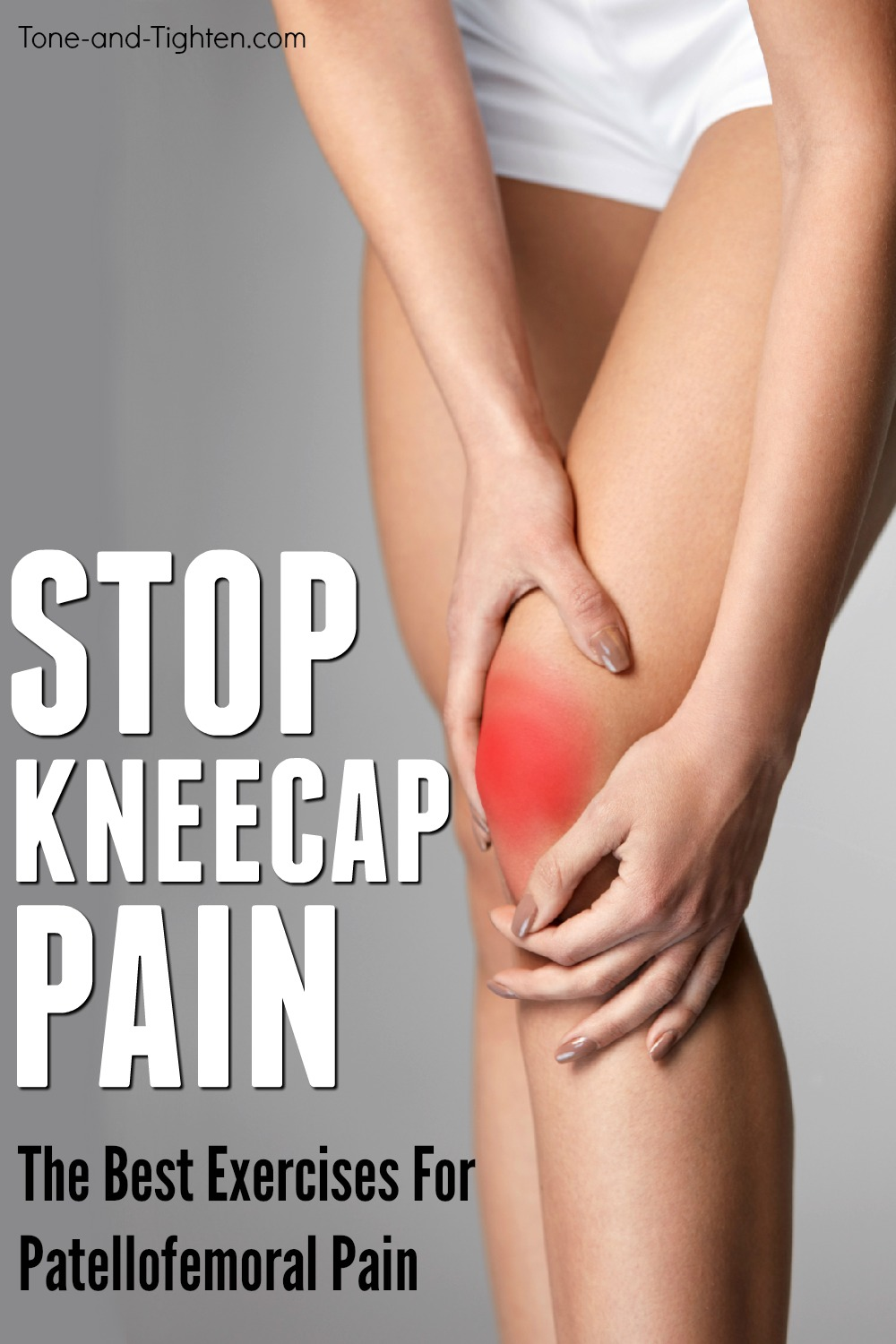 The best home exercises to eliminate kneecap pain. Patellofemoral pain exercises you can do right at home!