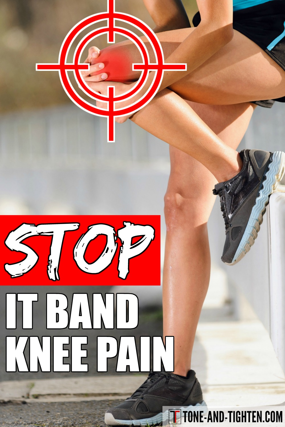 The best home exercises to stop IT band! How to eliminate illiotibial band syndrome symptoms with stretches and exercises.